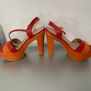 Amazing Stuart Weitzman leather platform heels!